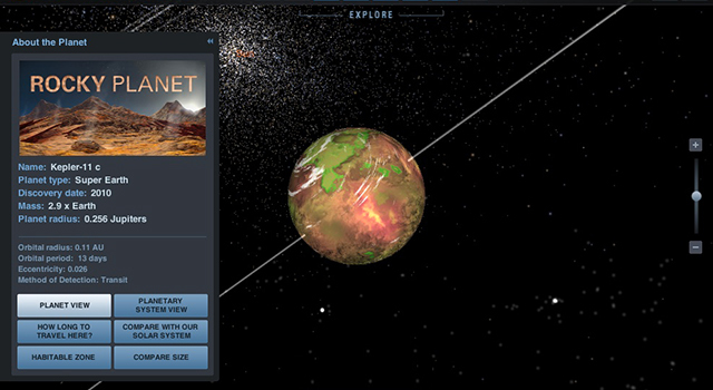 Eyes on Exoplanets interactive